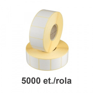 Raflatac-Budaval Role de etichete semilucioase 50x20mm, 5000 et./rola