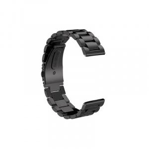 Very Dream Curea metalica compatibila Huawei Watch GT 2 Pro, telescoape Quick Release, Negru