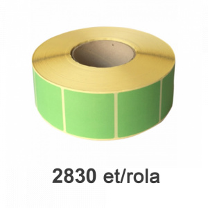 Raflatac-Budaval Role de etichete semilucioase verzi, 50x50mm, 2830 et./rola
