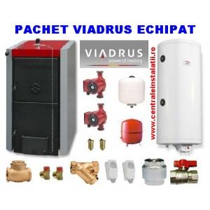 Viadrus Centrale termice pe lemne 40Kw boiler 100L