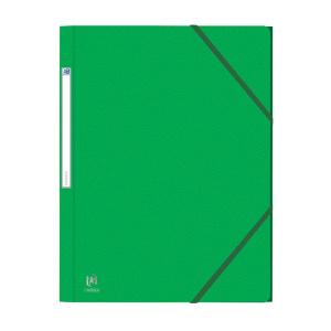 Oxford Mapa carton 450g/mp, cu elastic Eurofolio - verde