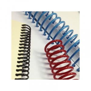 Ronic Spirala continua din plastic, format A4, pas 3:1, set 100 buc Albastru 18 mm