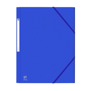 Oxford Mapa carton 450g/mp, cu elastic Eurofolio - albastru