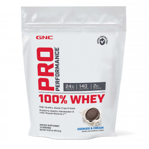 GNC Supliment Alimentar Pro Performance® 100% Whey,  Biscuiti si Crema, 411.6g