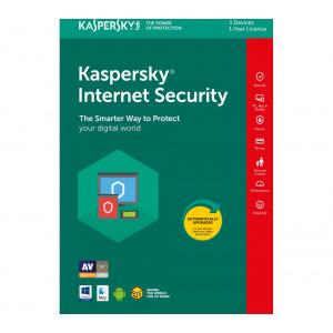 Kaspersky Kaspersky Internet Security, Licenta Electronica, 1 an, 1 echipament, New