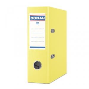 Donau Biblioraft A5, plastifiat PP, margine metalica, 75 mm - galben