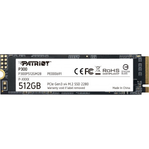 Patriot Memory P300 512GB PCI Express x4 M.2 2280