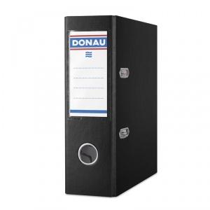 Donau Biblioraft A5, plastifiat PP, margine metalica, 75 mm - negru