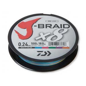 Daiwa Fir Textil J-Braid X8 Multicolor 006MM/4KG/150M