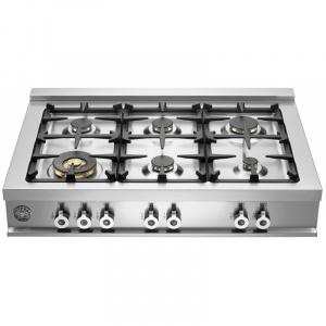 Bertazzoni Plita gaz 92x64 cm Range Top 6 arzatoare Inox design Professional CB36600X