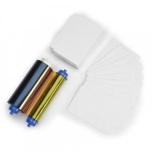 Zebra Set ribon color ZC10L 105999-10L1  YMCO si 400 carduri PVC  17 mil  un perfor - 105999-10L1