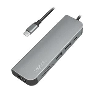 LogiLink USB 3.2 (Gen 1) Docking Station, 6-Port, w/PD, cable version UA0343