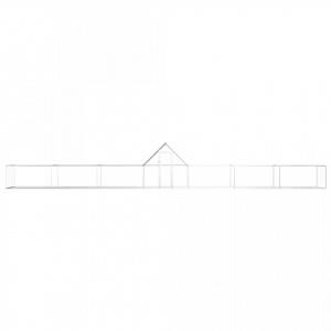 vidaXL Coteț de găini, 14 x 2 x 2 m, oțel galvanizat v