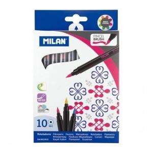 Milan Carioca 10 culori tip pensula
