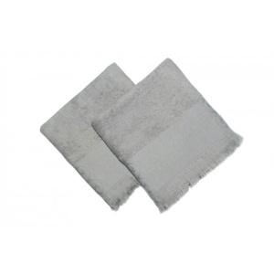 Bahar Tekstil Set 2 prosoape bumbac 100% cu franjuri, 50x90cm, Şehzade Hazelnut