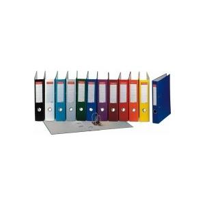 Esselte Biblioraft A4, plastIfiat PP, margine metalica, 75 mm, Economy - gri