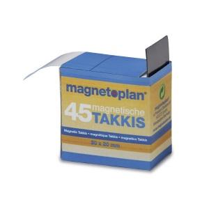 MagnetoPlan Patratele adeziv magnetice in dispenser Takkis, 30x20mm, 45 buc/set  15503
