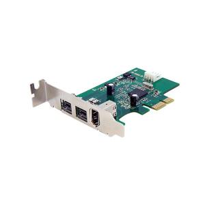 StarTech.com 3 Port 2b 1a Low Profile 1394 PCI Express FireWire Card PEX1394B3LP
