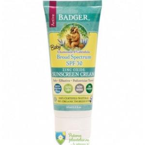 Badger Crema protectie solara SPF30 cu musetel pentru Bebelusi Bio 87 ml