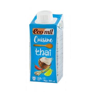 Ecomil Crema vegetala bio pentru gatit thai 200 ml