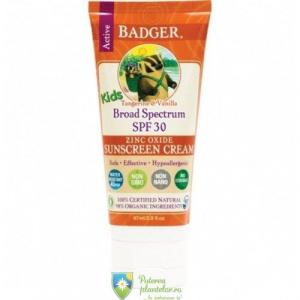 Badger Crema protectie solara SPF30 cu mandarine Copii Bio 87 ml