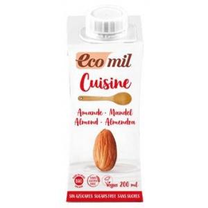 Ecomil Crema vegetala bio gatit din migdale natur 200 ml