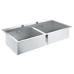 Grohe K800 , montare in blat, 1024 x 560 mm, 2 cuve, evacuare automata 31585SD0