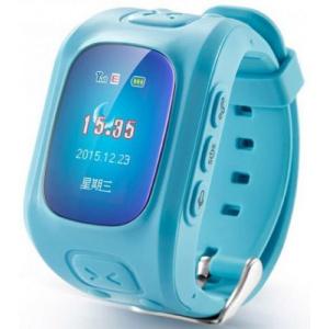 Iuni Smartwatch U6, LCD Capacitive touchscreen 1.5inch, 2G, GPS, Bratara silicon, dedicat pentru copii (Albastru)