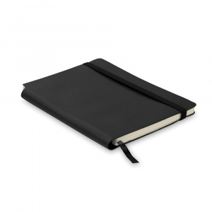 Everestus Agenda A5 cu pagini dictando, coperta moale, AG05, hartie, poliuretan, negru, lupa inclusa