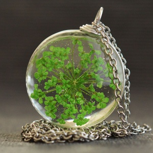 Felicity Store Pandantiv floare verde Summerish green