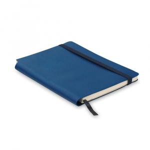 Everestus Agenda A5 cu pagini dictando, coperta moale, AG06, materiale multiple, albastru, lupa inclusa