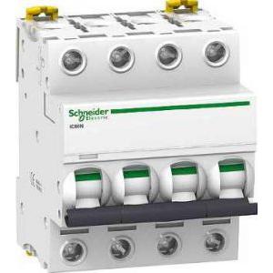 Schneider Electric Siguranta automata  Ic60n  4P 4A 50 kA D A9F75404  -
