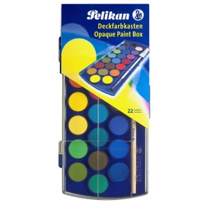 Pelikan Acuarele 12 culori cu pensula Pelikan 721324