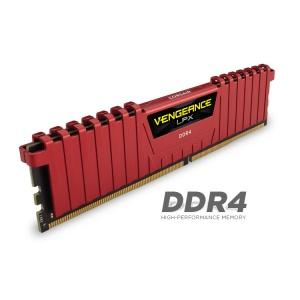 Vengeance® LPX 16GB (2x8GB) DDR4 DRAM 2400MHz C14 Memory Kit - Red (CMK16GX4M2A2400C14R)