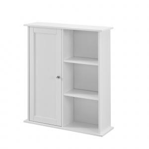 [en.casa] Dulap de perete Emilia de baie, 71 x 60 x 18 cm, placa MDF, lacuit, alb