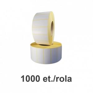 ZINTA Role etichete semilucioase 70x30mm, 1000 et./rola - 70X30X1000-SGP