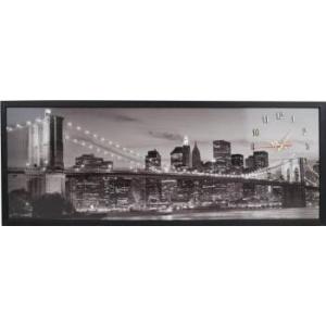 Heinner Tablou cu ceas inramat 35x100 cm City