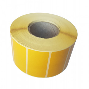 ZINTA Role etichete semilucioase PANTONE 122, 50x26mm, 1420 et./rola  - 50X26X1420-SGP-PANTONE122