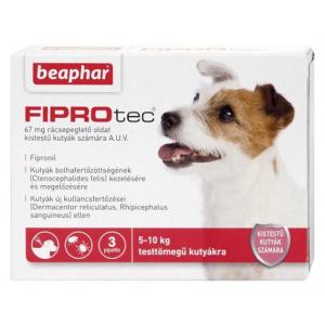 Beaphar FiproTec Spot On pentru câini cu talie mică - S 3 buc