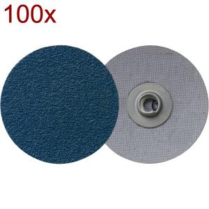 Klingspor - QMC 411 - Disc cu prindere rapida, 76 mm, granulatie 80, 100 bucati