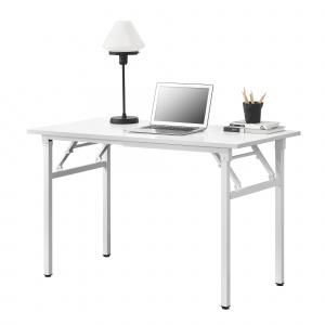 [neu.haus] Masa cu picioare pliabile AATF-7702, 120 x 60 x 75-76,4 cm, PAL melaminat/metal sinterizat, alb