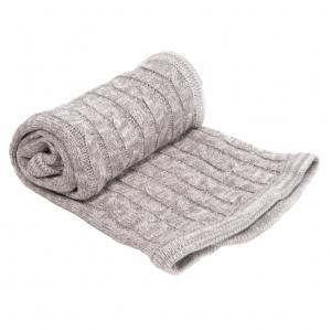 KikkaBoo Paturica tricotata din bumbac Melange Grey