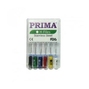 Prima Ace H-Files Hedstrom, otel inox asortate 15-40, 25mm, 6 buc