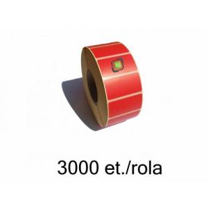 ZINTA Role etichete termice rosii 40x21mm, 3000 et./rola - 40X21X3000-TH-RED
