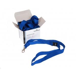 Durable Snur textil albastru pentru ecuson 10 bucati/cutie DB813707