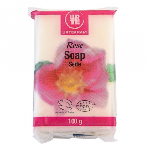 Urtekram Sapun solid cu trandafir Rose, bio, 100 g