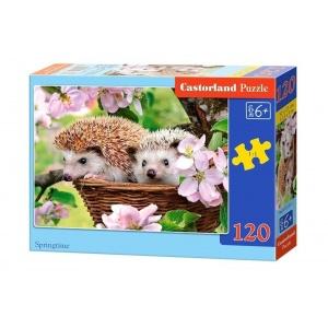 Castorland Puzzle Arici primavara 120 piese