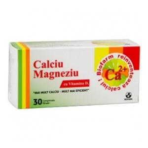 Biofarm Calciu Magneziu cu D3 30 comprimate