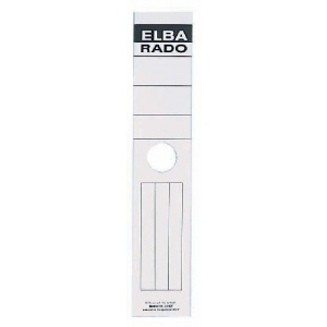 ELBA Etichete albe autoadezive pentru biblioraft suspendabil 59 x 290 mm, 10/set