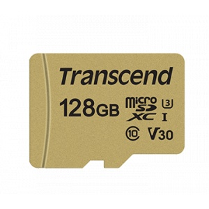 Transcend 128GB UHS-I U3 microSD with Adapter TS128GUSD500S